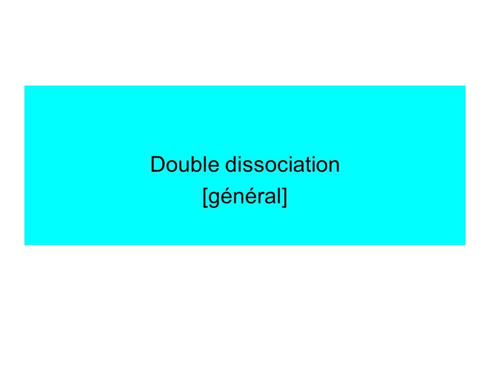 Double dissociation [général]